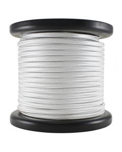 Rayon Covered SPT-1 Wire - 100 FT Spool - White
