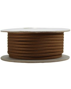 Rayon Covered SPT-2 Wire - 100 FT Spool - Med Brown