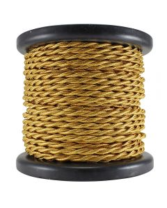 Rayon Covered Twist Wire - Gold 2-Wire 100 FT Spool