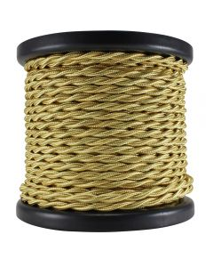 Rayon Covered Twist Wire - Light Gold 2-Wire 100 FT Spool