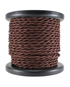 Rayon Covered Twist Wire - Bronze 2-Wire 100 FT Spool
