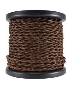 Rayon Covered Twist Wire - Brown 2-Wire 100 FT Spool