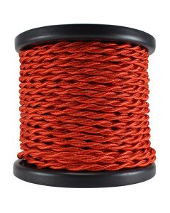 Rayon Covered Twist Wire - Red 2-Wire 100 FT Spool