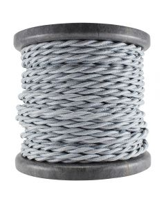 Rayon Covered Twist Wire - Satin Nickel 2-Wire 100 FT Spool