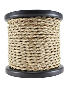 Rayon Covered Twist Wire - Camel 2-Wire 100 FT Spool