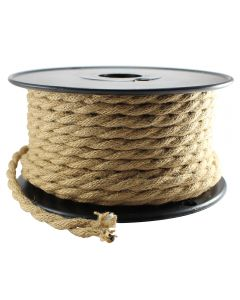 Linen Covered Wire 2-Wire Twist Macrame Rope Look 100 FT Spool