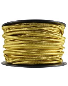 Rayon Covered SVT/2 Wire - 100 FT Spool - Gold