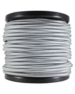 Rayon Covered SVT/2 Wire - 100 FT Spool - Silver