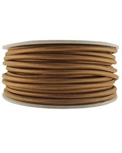 Rayon Covered SVT/2 Wire - 100 FT Spool - Med Brown