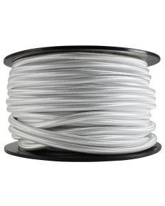 Rayon Covered SVT/2 Wire - 100 FT Spool - White