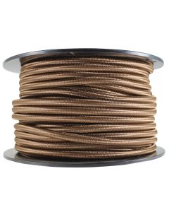 Rayon Covered SVT/2 Wire - 100 FT Spool - Brown