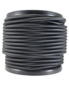 Rayon Covered SVT/2 Wire - 100 FT Spool - Black