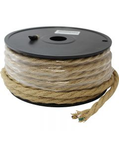 Linen Covered Wire 3-Wire Twist Macrame Rope Look 100 FT Spool