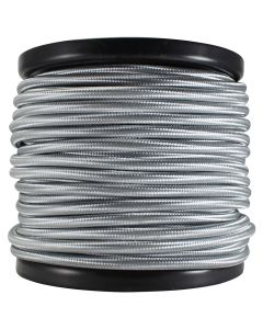 Rayon Covered SVT/3 Wire - 100 FT Spool - Silver