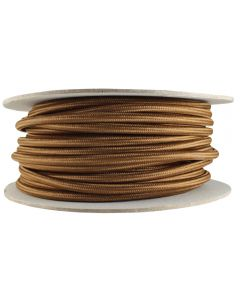 Rayon Covered SVT/3 Wire - 100 FT Spool - Med Brown