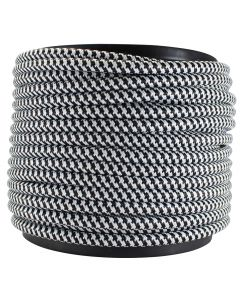 Rayon Covered SVT/3 Wire - 100 FT Spool - Black & White Houndstooth