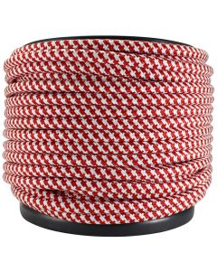 Rayon Covered SVT/3 Wire - 100 FT Spool - Red & White Houndstooth
