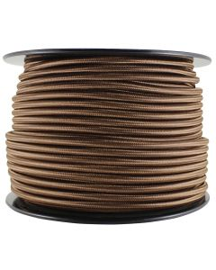Rayon Covered Pendant / Appliance Cord - Brown