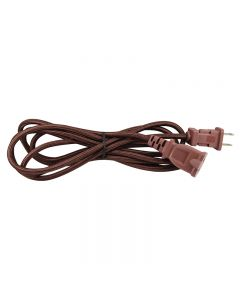 9 Foot SVT-2 Rayon Covered Extension Cords - Bronze with Black Plug