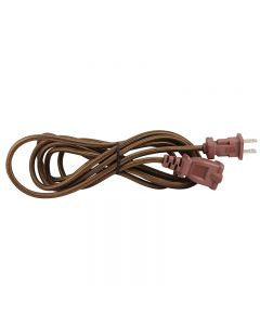 9 Foot SVT-2 Rayon Covered Extension Cords - Brown with Black Plug