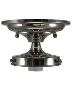 "4-1/2"" Semi-Flush Glass Holder - Nickel"