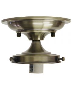"4-1/2"" Semi-Flush Glass Holder - Antique Brass"