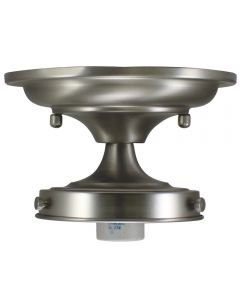 "4-1/2"" Semi-Flush Glass Holder - Satin Nickel"