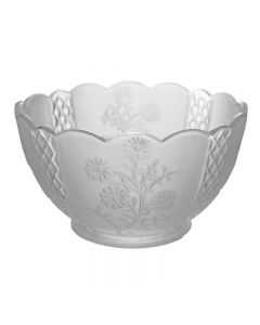 """7"""" Clear and Frost Floral 4"""" Fitter"""
