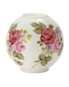 "8"" Ball Shade - Satin White Floral"