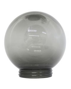 "6"" Smoke Acrylic Ball 3-1/4 Threaded Fitter"
