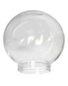 "6"" Clear Acrylic Ball- 3-1/4"" Threaded Fitter"