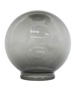 "6"" Smoke Acrylic Ball 3-1/4"" Fitter"