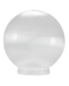 "6"" Clear Ribbed Acrylic Globe 3-1/4 Lip Fitter"